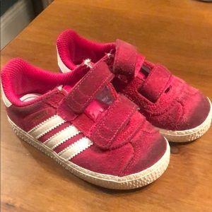 Adidas Hot Pink Suede Gazelle Ortholite
